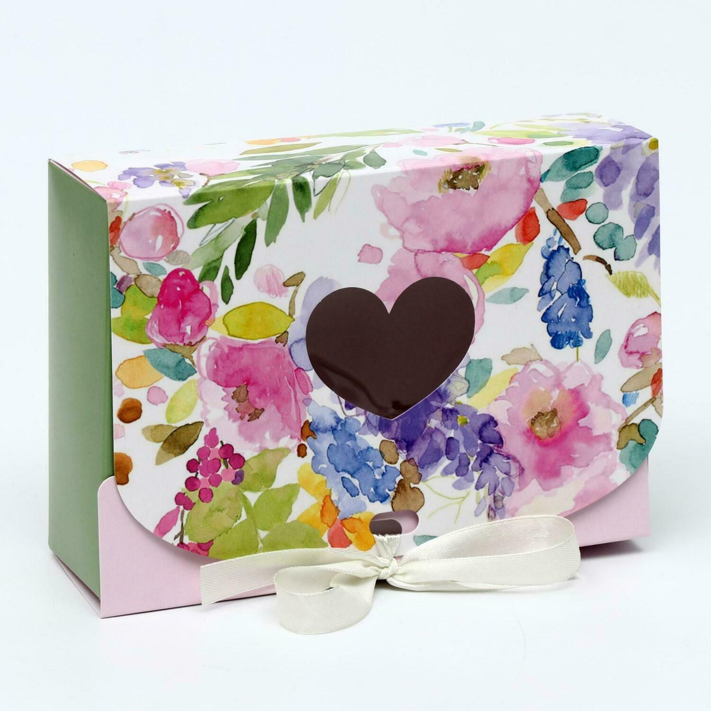 """Подарочная коробка сборная с окном """"Райский сад"""", 16,5 х 11, 5 х 5 см"""