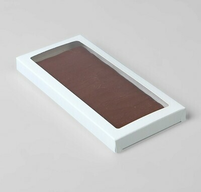 Коробка под плитку шоколада цельная, 17,1 х 8 х 1,4 см – БЕЛАЯ