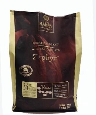 Белый шоколад 34% Zephyr Cacao Barry (Франция), 5 кг