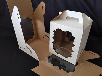 Коробка под кулич белая - 18х18х22 см