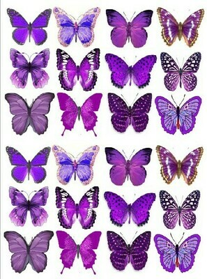 Печать на съедобной бумаге. Бабочки №2