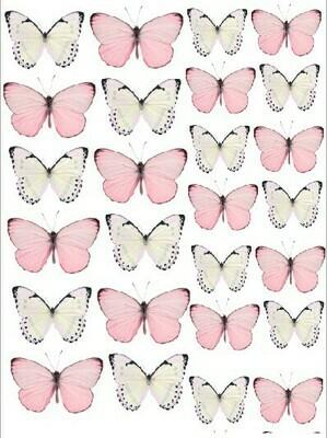 Печать на съедобной бумаге. Бабочки №4