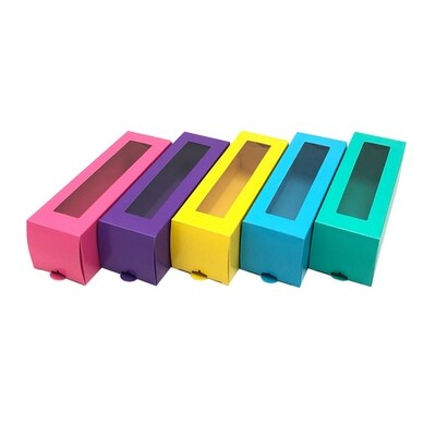 Набор коробочек для 6 макаронс Радуга 5 штук. Размер 185*60*60 мм.