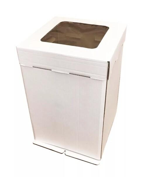 Коробка картонная усиленная гофрокартон с окном 30х30х45 см