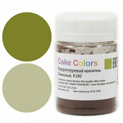 Cake colors Водорастворимый краситель Оливковый 10 гр.