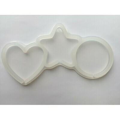 Форма для леденцов Ассорти (сердце, звезда, круг)