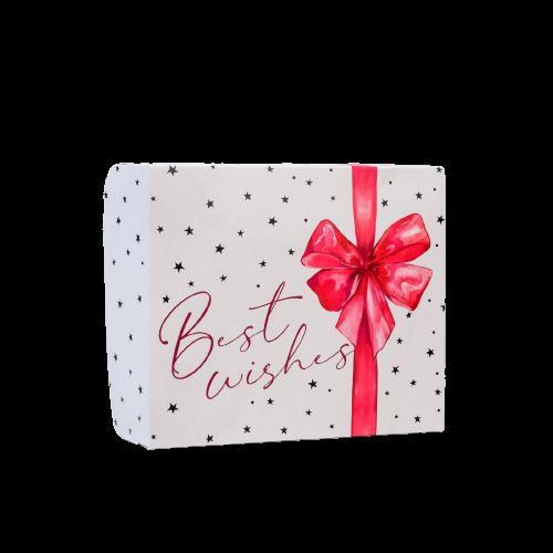 Коробочка для кондитерских изделий Best Wishes. Бант 17 × 20 × 6 см