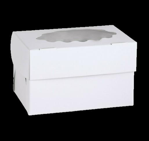 Коробка для 2 капкейка, белая, 10 х 16 х 10 см