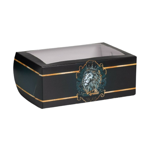 Коробка для капкейков «Лучший. Черная со львом» 17 х 25 х 10см