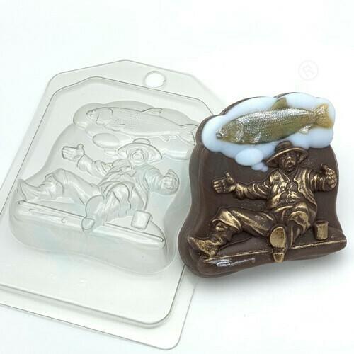 Пластиковая форма для шоколада Вооот такая рыба
