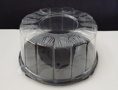 Коробка для торта пластиковая д22 см