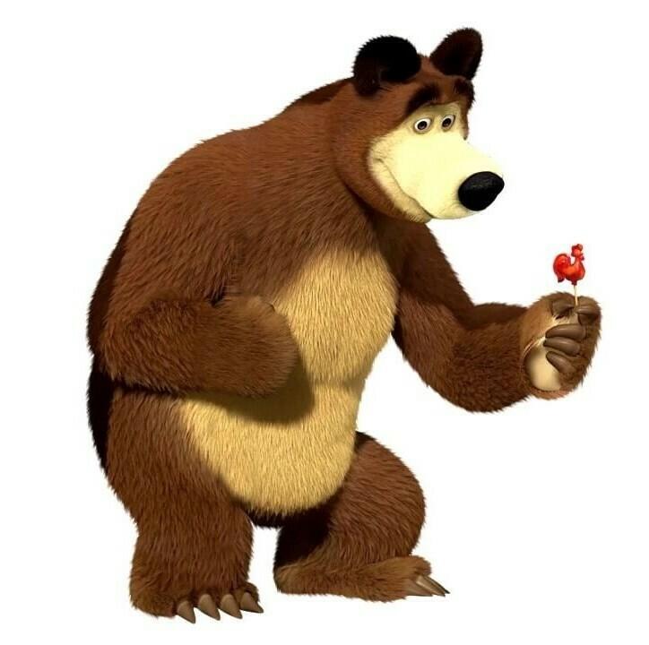 """Топпер сахарный """"Медведь""""."""