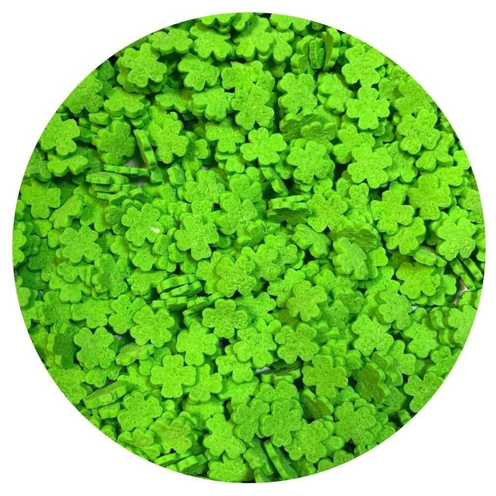 Посыпка лист клевера зеленый 100 гр