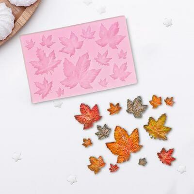 Молд силиконовый «Кленовые листья», 9,5×6,3 см.