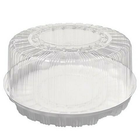 Коробка для торта пластиковая диаметр 26 см