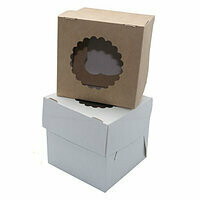 Упаковка для 1 капкейка двусторонняя Pasticciere 10х10х10 см