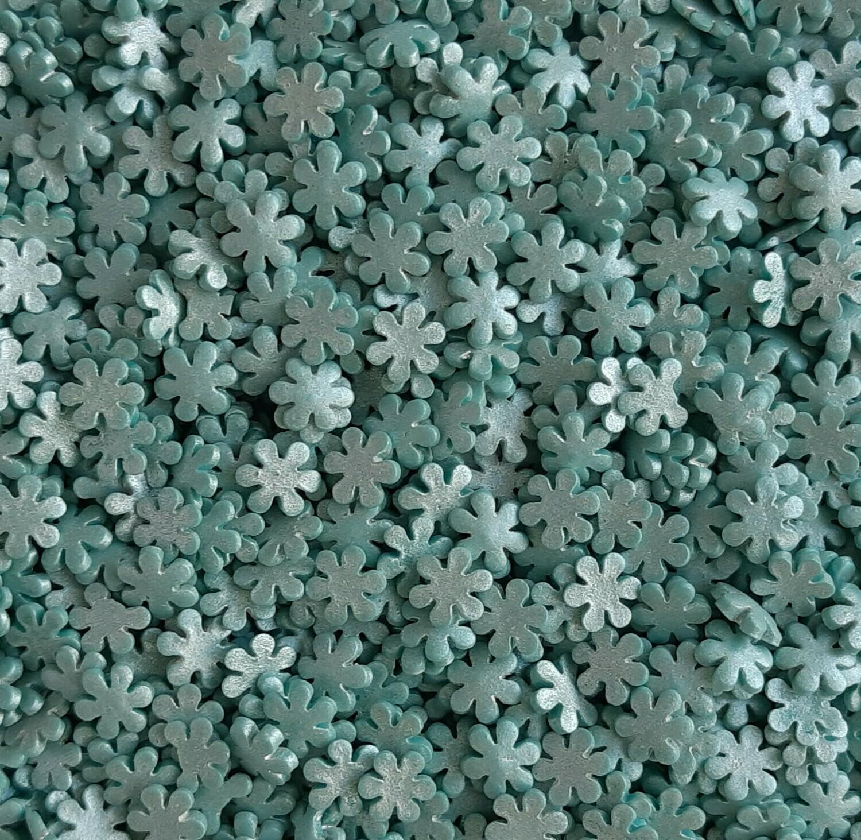 Посыпка снежинки голубые перламутровые - 100 гр