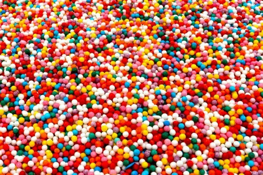 Посыпка шарики яркие микс 100 гр