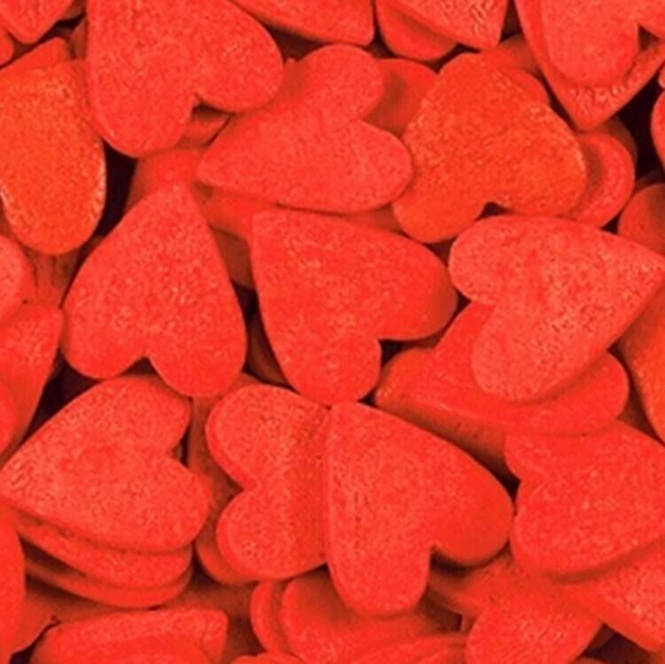 Сердечки красные большие. 100 гр