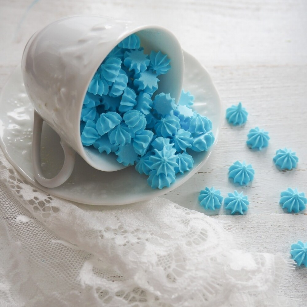 Сахарные фигурки Мини-безе голубые 40 гр.