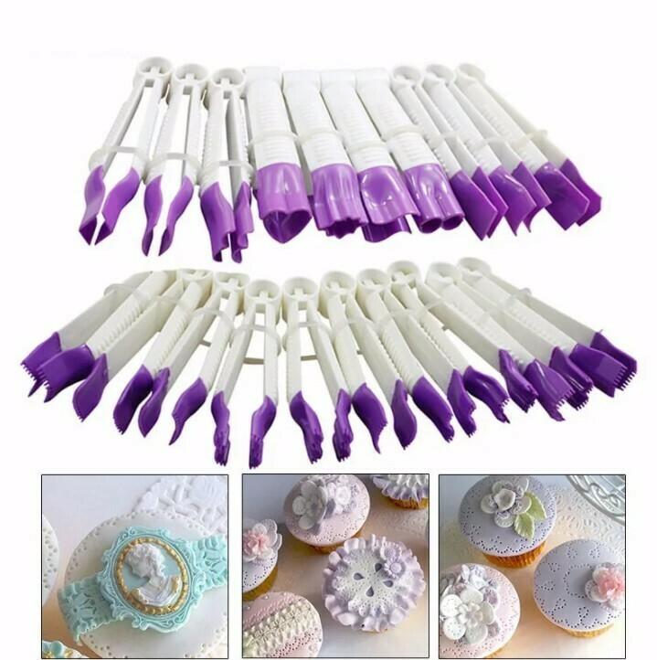 Набор щипцов для моделирования кондитерских украшений  10 шт