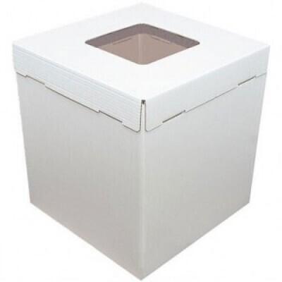 Коробка картонная усиленная гофрокартон с окном  42х42х45 см