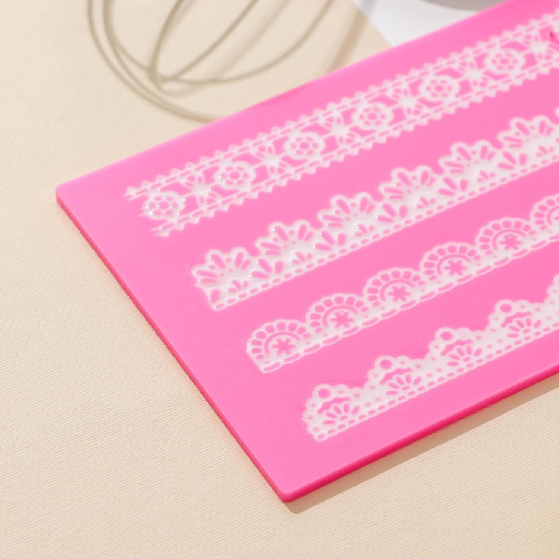 Коврик для айсинга «Узкие полосы», 40×12 см, цвет МИКС