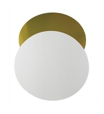 Подложка толщина 1,5 мм.  золото/белый Диаметр 16