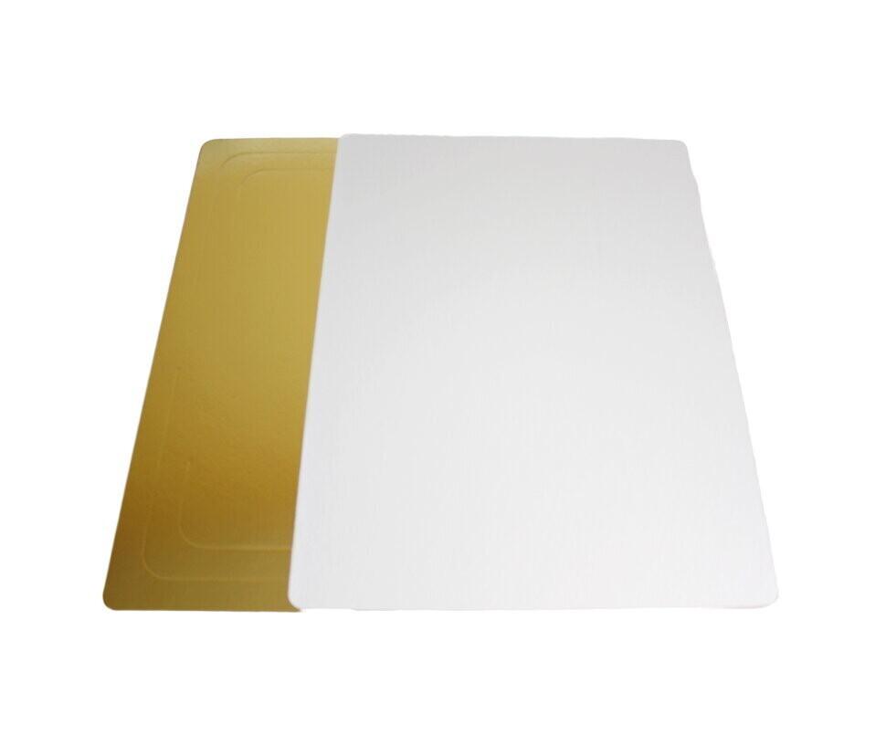 Подложка усиленная двусторонняя золото/белый 3.2мм 30х40