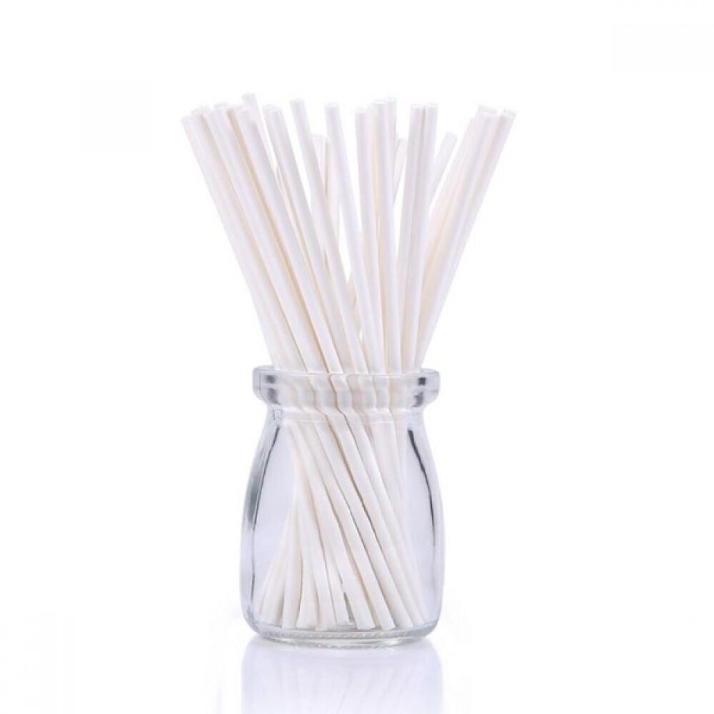 Палочки для кейк-попсов/меренги белые - 50 штук. Длина 10 см