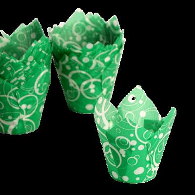 Форма Тюльпан Зеленый с белыми кольцами  1 шт.