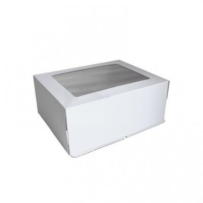 Коробка картонная усиленная гофрокартон с окном 30х40х20 см