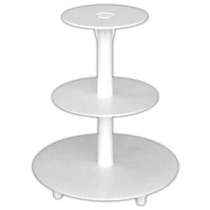 разборная подставка для торта 3-ярусная: высота - 36см; диаметр блюд - 34, 24, 19 см
