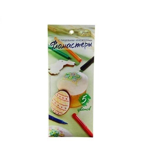 Фломастеры пищевые топ-продукт 5 цветов