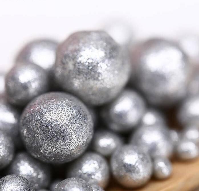 Шарики кранч БЛЕСК  серебро микс 50 гр.