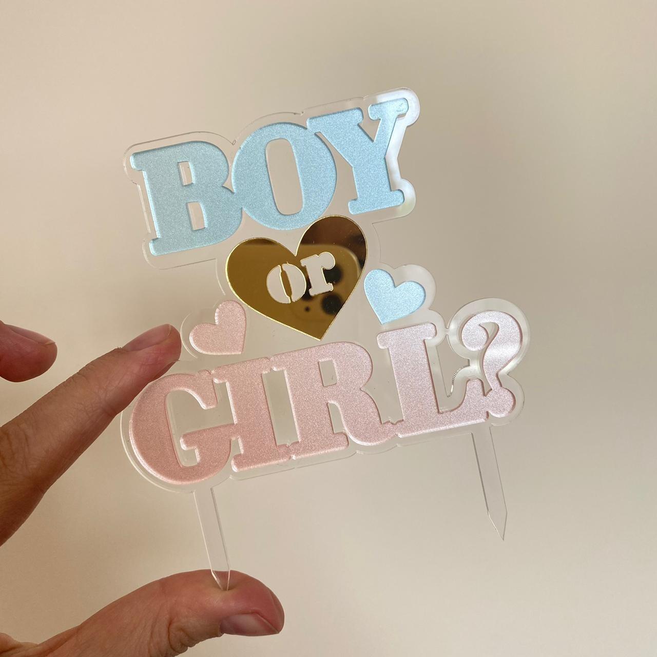 Топпер «Boy or Girl» акрил