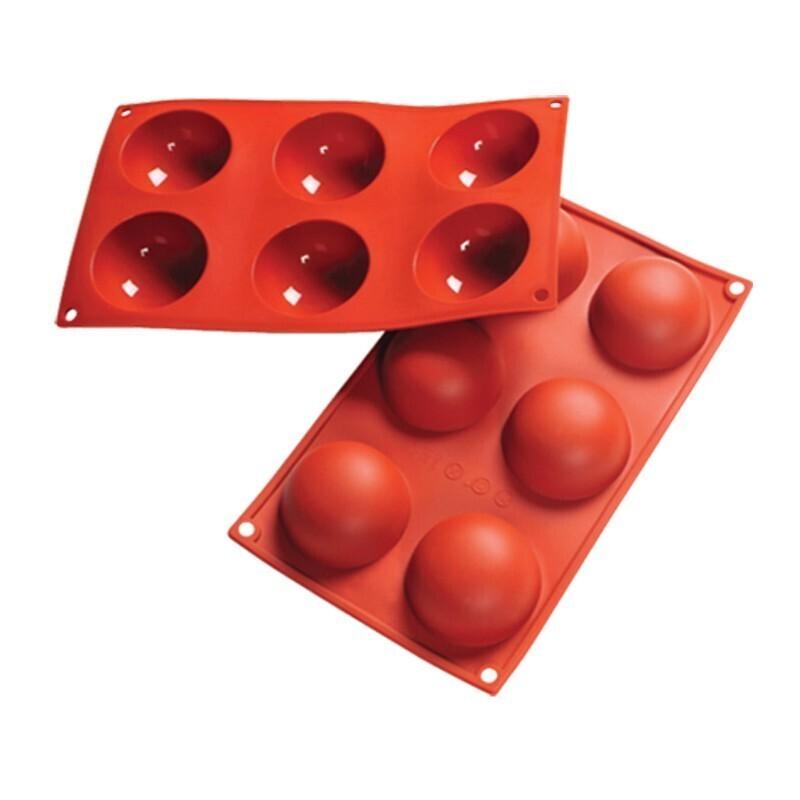 Форма силиконовая полусфера д 7 см