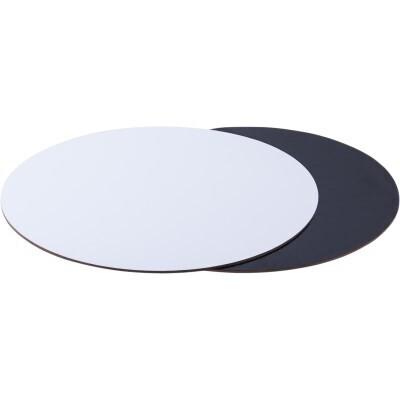 Подложка толщина 1,5 мм.  черно/белый Диаметр 20