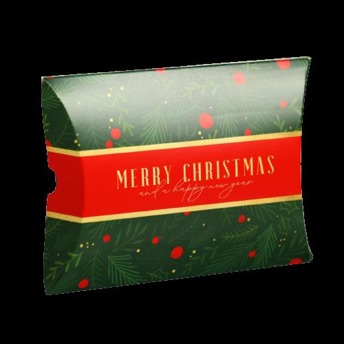 Коробка-конверт «Время подарков. Зелено-красная», 11 × 8 × 2 см