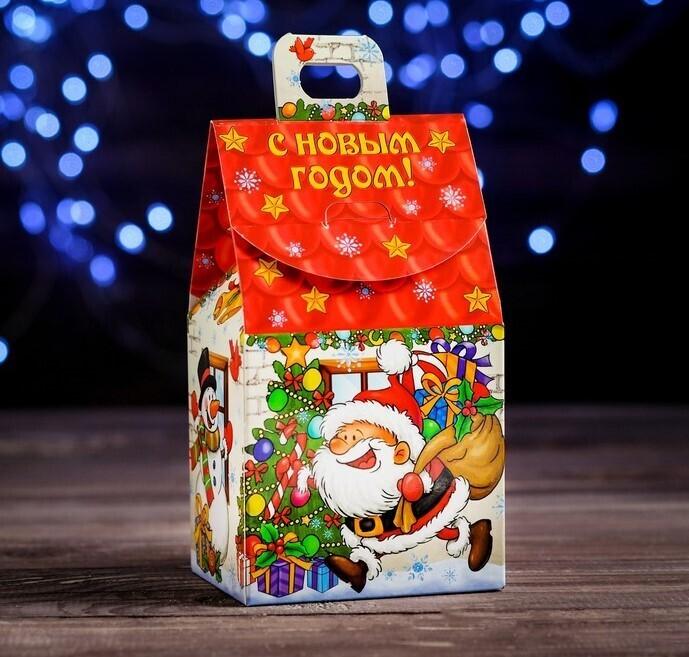 """Коробка для новогоднего подарка """"Веселый Дед Мороз"""", 9,1 х 7 х 15,7 см"""