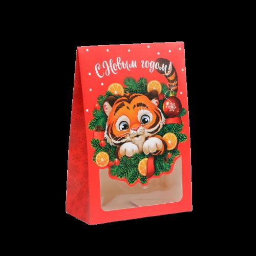 Коробка для новогоднего подарка «Мандаринка. Тигренок», 15 × 7 × 22 см