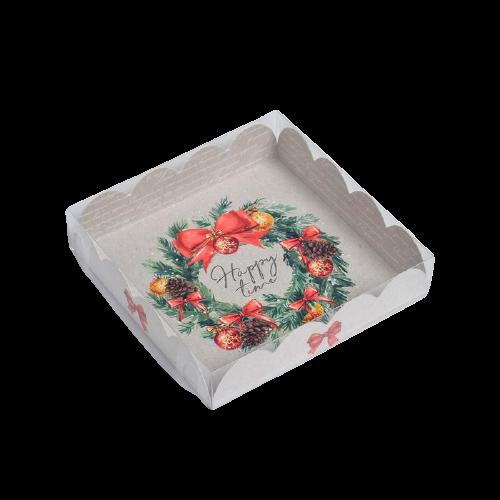 Коробочка для печенья Happy time, 13 х 13 х 3 см