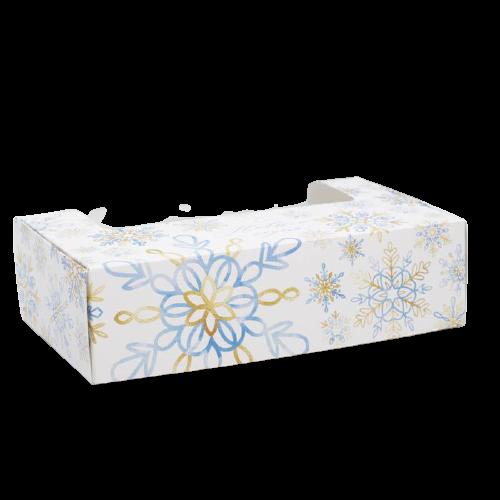 Коробка для эклеров с вкладышами - 4 шт «Снежинки», 25,2 х 15 х 7 см