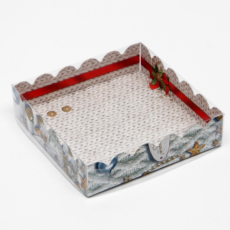 """Коробочка для печенья """"Новогодние игрушки"""", 12 х 12 х 3 см"""
