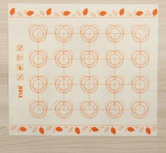 Коврик армированный Макаронс. Листики.  29,3х26 см