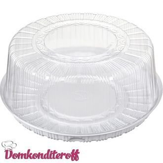 Коробка для торта пластиковая. Внутренний диаметр 30 см