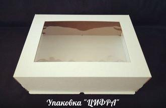 Коробка для торта Цифра. 30х40х13 см. Дно-поднос