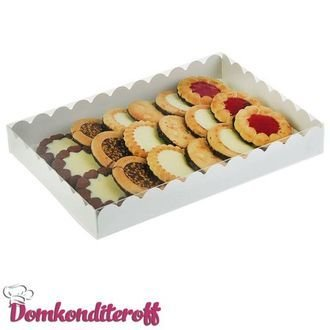 Коробочка для печенья 20х12х3.5 см белая