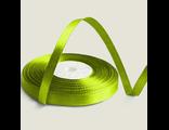 Лента атласная 12 мм зеленая