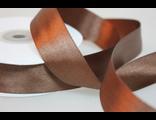 Лента атласная 12 мм коричневая